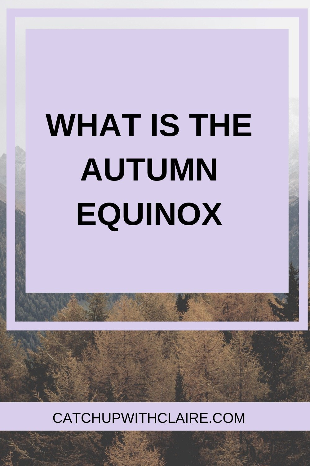 Text image which reads what is the autumn equinox